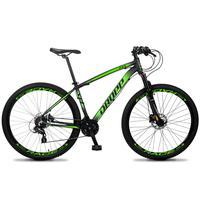 Bicicleta Aro 29 Dropp Z4x 24v Susp C/trava Freio Hidraulico - Preto/verde - 19''