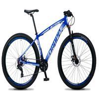 Bicicleta Aro 29 Dropp Rs1 Pro 21v Tourney Freio Disco/trava - Azul/branco - 17