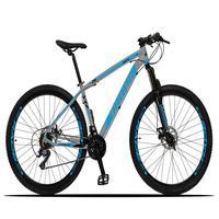 Bicicleta Aro 29 Dropp Z3x 21v Suspensão E Freio Disco - Cinza/azul - 19''