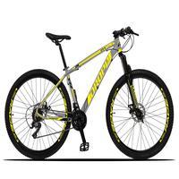 Bicicleta Aro 29 Dropp Z3x 21v Suspensão E Freio Disco - Cinza/amarelo - 21''