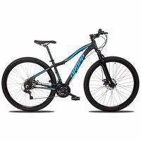 Bicicleta Aro 29 Dropp Flower 21v Suspensão E Freio A Disco - Preto/azul - 15