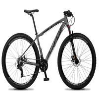 Bicicleta Aro 29 Dropp Rs1 Pro 21v Tourney Freio Disco/trava - Cinza/preto - 17