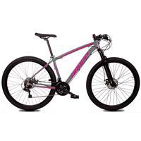 Bicicleta Aro 29 Dropp Z1x 21v Shimano, Susp E Freio A Disco - Cinza/rosa - 15''