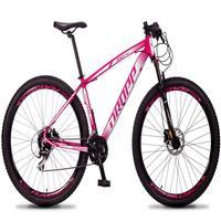 Bicicleta Aro 29 Dropp Rs1 Pro 24v Acera Freio Hidra E Trava - Rosa/branco - 17