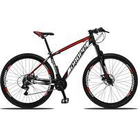 Bicicleta Aro 29 Dropp Z3 21v Shimano, Suspensão Freio Disco - Preto/vermelho E Branco - 17
