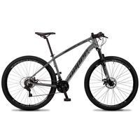 Bicicleta Aro 29 Dropp Tx 21v Shimano, Suspensão E Freio Disco - Cinza/preto - 17''