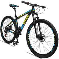Bicicleta Aro 29 Gt Sprint Mx1 21v Suspensão E Freio A Disco - Preto/azul E Amarelo - 19''