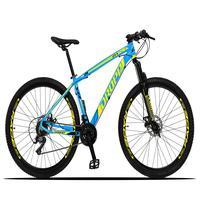 Bicicleta Aro 29 Dropp Z3x 21v Suspensão E Freio Disco - Azul/amarelo - 15