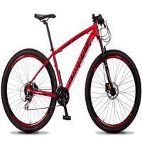 Bicicleta Aro 29 Dropp Rs1 Pro 24v Acera Freio Hidra E Trava - Vermelho/preto - 17