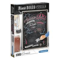 Puzzle 1000 Peças Black Board Viagem - Clementoni - Importado