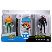 DC - Figuras de 10 cm com Vilão Aquaman/Black Manta