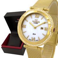 Relógio Feminino Technos Dourado Branco Original