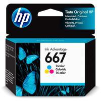 Cartucho Hp 667 Colorido 3ym78al Para Deskjet Ink Advantage 6000 / 6400 / 1200 / 2300 / 2700 / 4100