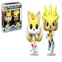 Funko Pop Sonic Super Tails e Super Silver Special Edition 2 Pack