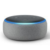 Smart Speaker Amazon Echo Dot, Terceira Geração, Com Alexa - Cinza