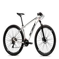 "Bicicleta Aro 29 Ksw 21 Marchas Freios Hidraulico E K7 Cor:branco/pretotamanho Do Quadro:21"" - 21"""