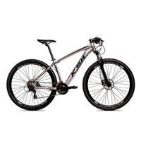"Bicicleta Aro 29 Ksw 24 V Shimano Freio Hidraulico/trava/k7 Cor: Grafite/Preto, Tamanho Do Quadro:15"" - 15"""