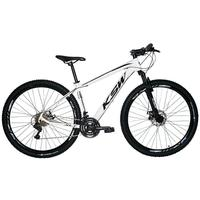 "Bicicleta Aro 29 Ksw 21 Marchas, Freios A Disco C/trava E K7, Cor: branco/preto, Tamanho Do Quadro:21"""