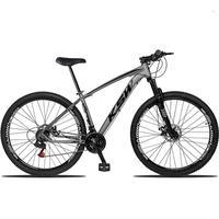 "Bicicleta Aro 29 Ksw 24 Marchas Freios A Disco C/trava E K7 Cor: grafite/preto tamanho Do Quadro:17"""