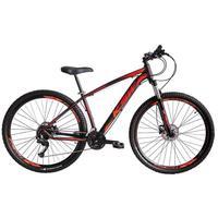 Bicicleta Aro 29 Ksw 21 Marchas Freios Hidraulico E K7 Cor: preto/laranja E Vermelho tamanho Do Quadro:19  - 19