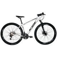 Bicicleta Aro 29 Ksw 24 Marchas Shimano, Freios A Disco E K7 Cor: branco/preto tamanho Do Quadro:21  - 21