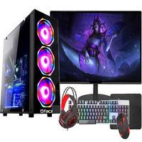 Pc Gamer Completo Fácil, Intel I3 10100f, 8gb, Gtx 750ti 4gb, Hd 500gb, Monitor 21 pol, Fonte 500w