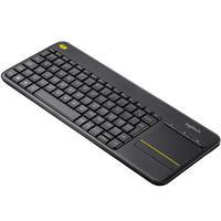 Teclado Sem Fio Logitech K400 Plus Com Touchpad, Multimídia, Unifying, Abnt2, Cinza