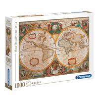 Puzzle 1000 Peças Old Map - Clementoni - Importado