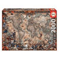 Puzzle 2000 Peças Mapa De Piratas - Educa - Importado