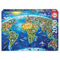 Puzzle 2000 Peças Símbolos Do Mundo - Educa - Importado