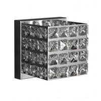 Arandela Quadrada Aberta Inox/cristal - Soquete G9 (4558)