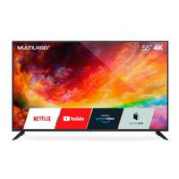 "Smart Tv Multilaser 55"" Uhd 4k Função Smart E Wi-fi Integrado - Tl025 Preto"